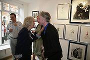 THE DUCHESS OF CORNWALL AND PHILIP TREACY  Norman Parkinson and Philip Treacy, an exhibition of photographs by Norman Parkinson and drawings by celebrated milliner Philip Treacy. ELEVEN Gallery. VICTORIA. LONDON. 3 July 2007.  -DO NOT ARCHIVE-© Copyright Photograph by Dafydd Jones. 248 Clapham Rd. London SW9 0PZ. Tel 0207 820 0771. www.dafjones.com.