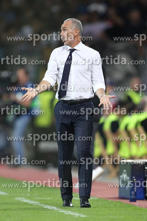 26.08.2015, BayArena, Leverkusen, GER, UEFA CL, Bayer 04 Leverkusen vs Lazio Rom, Playoff, R&uuml;ckspiel, im Bild Trainer Stefano Pioli (Lazio Rom) // during UEFA Champions League Playoff 2nd Leg match between Bayer 04 Leverkusen and SS Lazio at the BayArena in Leverkusen, Germany on 2015/08/26. EXPA Pictures &copy; 2015, PhotoCredit: EXPA/ Eibner-Pressefoto/ Schueler<br /> <br /> *****ATTENTION - OUT of GER*****