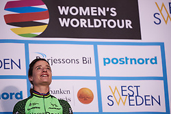 Race winner, Marianne Vos (NED) at Postnord Vårgårda West Sweden Road Race 2018, a 141 km road race in Vårgårda, Sweden on August 13, 2018. Photo by Sean Robinson/velofocus.com