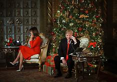 President Donald Trump and First Lady Melania Trump making Santa Tracker phone calls - 24 Dec 2017