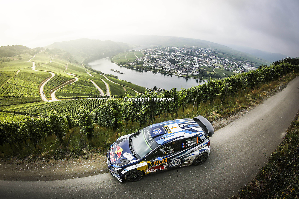 19.08.2016. Mosel, Germany. WRC ADAC rally of Germany, SS3 and SS4. Sebastien Ogier ( FR ) and Julien Ingrassia ( FR ) - Volkswagen Polo