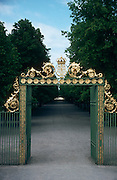 Majestic gold and green gate outside of Drottningholm Castle, Stockholm, Sweden..Media Usage:.Subject photograph(s) are copyrighted Edward McCain. All rights are reserved except those specifically granted by McCain Photography in writing...McCain Photography.211 S 4th Avenue.Tucson, AZ 85701-2103.(520) 623-1998.mobile: (520) 990-0999.fax: (520) 623-1190.http://www.mccainphoto.com.edward@mccainphoto.com