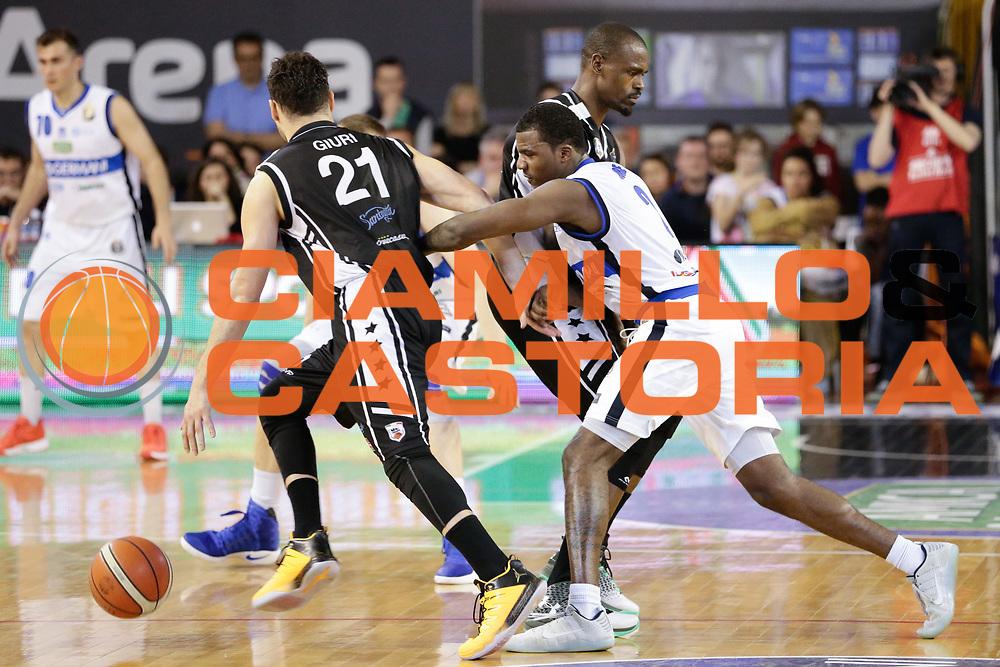 Marco Giuri<br /> Germani Basket Brescia Leonessa - Pasta Reggia Juve Caserta<br /> Lega Basket Serie A 2016/2017<br /> Montichiari, 02/04/2017<br /> Foto Ciamillo-Castoria / M. Brondi