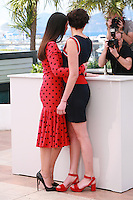 Actress Monica Bellucci and Director Alice Rohrwacher pose for photographers at the photo call for the film The Wonders (Le Meraviglie) at the 67th Cannes Film Festival, Sunday 18th May 2014, Cannes, France.