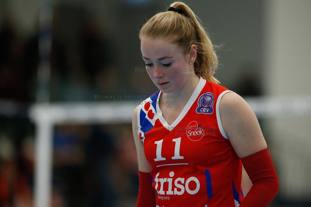 20180303 NED: Eredivisie Sliedrecht Sport - VC Sneek, Sliedrecht <br />Roos van Wijnen of VC Sneek <br />©2018-FotoHoogendoorn.nl / Pim Waslander