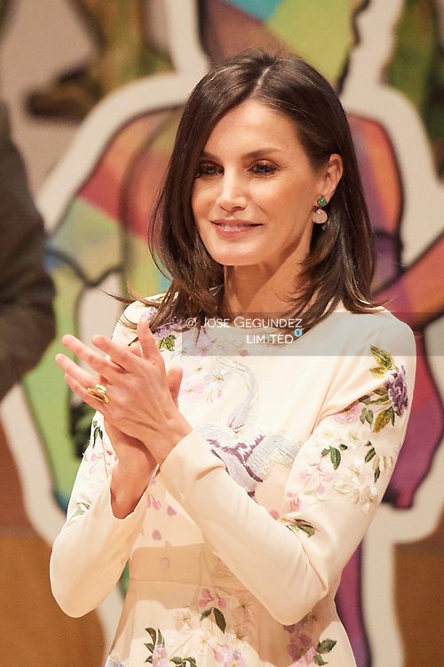 Queen Letizia of Spain attends World Day of the Red Cross and Red Crescent at Auditorio Palacio de Congresos on May 7, 2019 in Zaragoza, Aragon