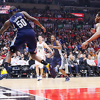 09 November 2015: Memphis Grizzlies forward Zach Randolph (50) saves the ball during the Los Angeles Clippers 94-92 victory over the Memphis Grizzlies, at the Staples Center, in Los Angeles, California, USA.