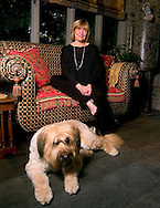 6/29/06 Omaha. NE Susan Buffett and her dog Jack  at her Omaha house..(photo by Chris MachianPrairie Pixel Group)