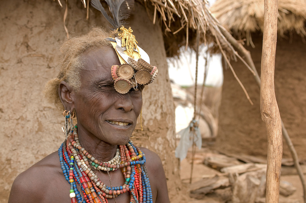 Old woman from the Dasanech tribe, Omovalley,Ethiopia,Africa
