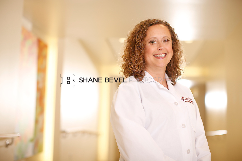 5/28/15 4:12:43 PM -- Dr. Renee Frenier of Saint Francis Health System poses for a portrait for the 2015 Advertising Campaign. <br /> <br /> Photo by Shane Bevel