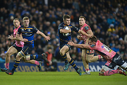 December 16, 2017 - Dublin, Ireland - Luke McGrath of Leinster team in action challenged by Sam Skinner of Exeter Chiefs during the  European Rugby Champions Cup rugby match at Aviva Stadium...On Saturday, 16 December 2017, in Dublin, Ireland. (Credit Image: © Artur Widak/NurPhoto via ZUMA Press)