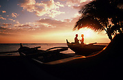 Couple at sunset, Kohala Coast, Big Island of Hawaii