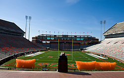 November 21, 2009; Clemson, SC, USA;  View of Memorial Stadium before the game between the Clemson Tigers and the Virginia Cavaliers.  Clemson defeated Virginia 34-21.