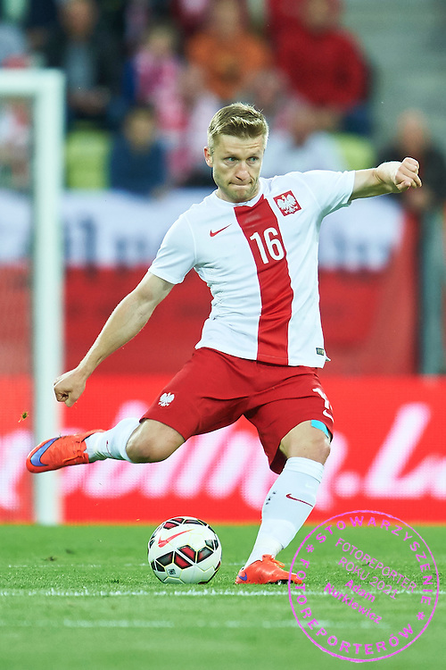 Jakub Blaszczykowski from Poland controls the ball during international friendly soccer match between Poland and Greece at PGE Arena Stadium on June 16, 2015 in Gdansk, Poland.<br /> Poland, Gdansk, June 16, 2015<br /> <br /> Picture also available in RAW (NEF) or TIFF format on special request.<br /> <br /> For editorial use only. Any commercial or promotional use requires permission.<br /> <br /> Adam Nurkiewicz declares that he has no rights to the image of people at the photographs of his authorship.<br /> <br /> Mandatory credit:<br /> Photo by &copy; Adam Nurkiewicz / Mediasport
