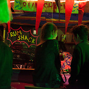 A van doubling up as a bar called the Rum Shack is open till late into the night at the Super Normal art and music festival in Oxfordshire.