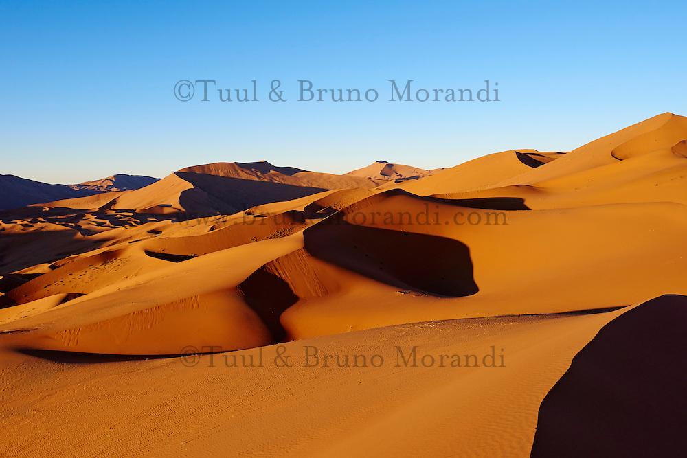 Chine, région autonome de Mongolie intérieure, désert de Badain Jaran, désert de Gobi // China, Inner Mongolia, Badain Jaran desert, Gobi desert