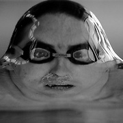 'Boy in the bubble' The water tension is stretched to the limit as Australia swimmer Matt Dunn rises to the surface a split second before breaking the water tension. This image won the World Press Photo of the Year, Sports Singles Category in 1994