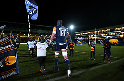 Will Spencer of Worcester Warriors runs out to face London Irish  - Mandatory by-line: Robbie Stephenson/JMP - 22/12/2017 - RUGBY - Sixways Stadium - Worcester, England - Worcester Warriors v London Irish - Aviva Premiership