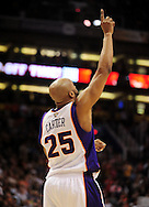Feb. 17, 2011; Phoenix, AZ, USA; Phoenix Suns guard Vince Carter (25) reacts on the court against the Dallas Mavericks at the US Airways Center. The Mavericks defeated the Suns 112-106. Mandatory Credit: Jennifer Stewart-US PRESSWIRE