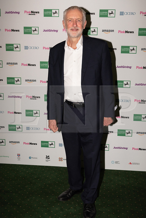 © Licensed to London News Pictures. 17/10/2018. London, UK. Labour party leader Jeremy Corbyn attends the Pink News Awards 2018 held at Church House. Photo credit: Ray Tang/LNP