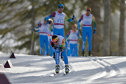 Fore-runners at the Nordic Skiing XC Long Distance at the 2014 Sochi Winter Paralympic Games, Russia