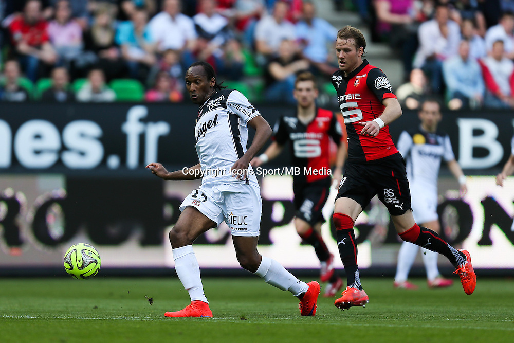 Jeremy SORBON / Ola TOIVONEN - 12.04.2015 - Rennes / Guingamp - 32eme journee de Ligue 1 <br /> Photo : Vincent Michel / Icon Sport