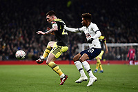 Football - 2019 / 2020 Emirates FA Cup - Fourth Round, Replay: Tottenham Hotspur vs. Southampton<br /> <br /> Southampton's Pierre-Emile Hojbjerg holds off the challenge from Tottenham Hotspur's Gedson Fernandes, at The Tottenham Hotspur Stadium.<br /> <br /> COLORSPORT/ASHLEY WESTERN