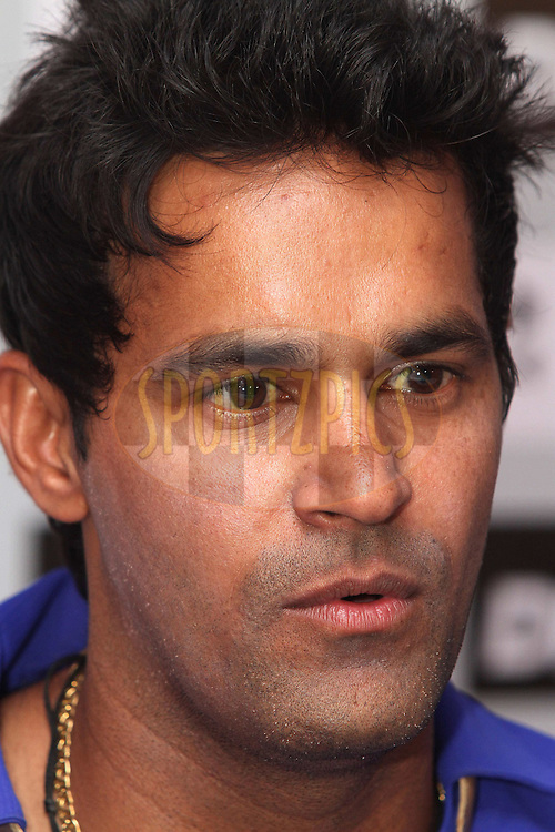 Ajit Chandila of the Rajasthan Royals during the post match press conference after match 60 of the the Indian Premier League (IPL) 2012  between The Rajasthan Royals and the Pune Warriors India  held at the Sawai Mansingh Stadium in Jaipur on the 13th May2012..Photo by Shaun Roy/IPL/SPORTZPICS