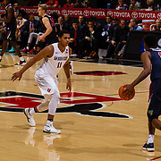 17 January 2018: San Diego State leads Fresno State 40-36 at halftime at Viejas Arena. <br /> More game action at www.sdsuaztecphotos.com