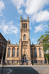 View of former church housing Ramshorn Theatre , part of Strathclyde University, in Glasgow, Scotland, united Kingdom