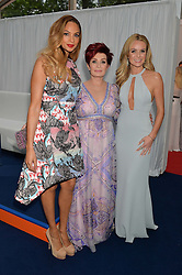Left to right, ALESHA DIXON, SHARON OSBOURNE and AMANDA HOLDEN at the Glamour Women of The Year Awards in Association with Next held in Berkeley Square Gardens, Berkeley Square, London on 3rd June 2014.