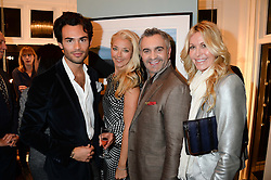 Left to right, MARK-FRANCIS VANDELLI, TAMARA BECKWITH, interior designer MARTYN LAWRENCE BULLARD and MELISSA ODABASH at a private view of Photographs by Julian Lennon held at The Little Black Gallery, 13A Park Walk, London SW10 on 17th September 2013.