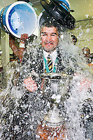 TARANAKI RUGBY COACH COLIN COOPER CELEBRATES WINNING THE 2014 ITM CUP PREMIERSHIP FINAL, NEW PLYMOUTH