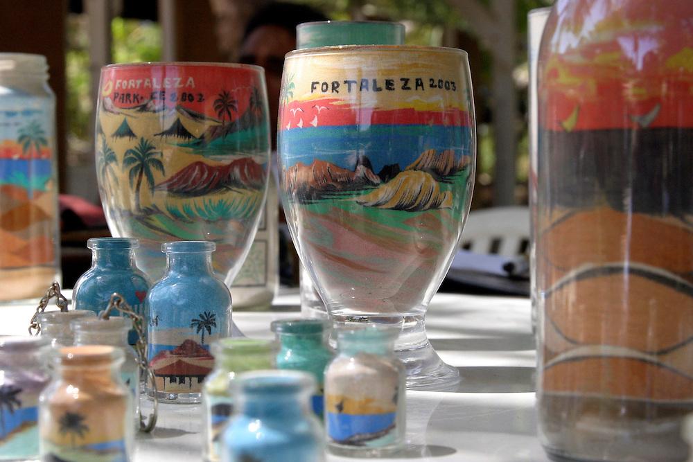 Fortaleza_CE, Brasil...Detalhe de garrafinhas de areia colorida, artesanato tipico do Ceara...Detail of colorful sand bottles, the Ceara typical crafts...FOTO: BRUNO MAGALHAES / NITRO