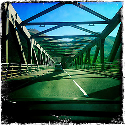 Ballachulish bridge..Hipstamatic images taken on an Apple iPhone..©Michael Schofield.