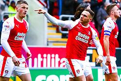 Jon Taylor of Rotherham united celebrates his sides second goal with Ben Wiles of Rotherham United - Mandatory by-line: Ryan Crockett/JMP - 02/03/2019 - FOOTBALL - Aesseal New York Stadium - Rotherham, England - Rotherham United v Blackburn - Sky Bet Championship