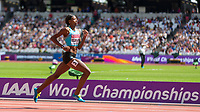 Athletics - 2017 IAAF London World Athletics Championships - Day Three, Morning Session<br /> <br /> 400m Women - Round One<br /> <br /> Shaunae Miller-Uibo (Bahamas)  comes home alone ahead of the field at the London Stadium <br /> <br /> <br /> COLORSPORT/DANIEL BEARHAM