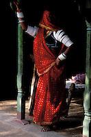 Inde - Rajasthan - Region de Jalor - Femme rajpute