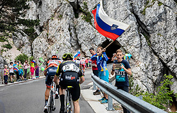 Supporters at Predmeja during 4th Stage of 26th Tour of Slovenia 2019 cycling race between Nova Gorica and Ajdovscina (153,9 km), on June 22, 2019 in Slovenia. Photo by Vid Ponikvar / Sportida