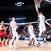 09 April 2018: Denver Nuggets guard Gary Harris (14) goes for the layup during the Denver Nuggets 88-82 victory over the Portland Trail Blazers, at the Pepsi Center, Denver, Colorado, USA.