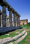 ITALY, GREEK CULTURE, Paestum, Greek Colony fd. in 6cBC Basilica, archaic Doric temple and Neptune Temple 5cBC, Doric, beyond