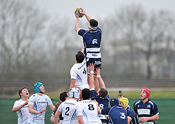 George Kloska - SGS College of Bristol Academy U18 wins the ball in the line-out - Mandatory by-line: Paul Knight/JMP - 07/01/2017 - RUGBY - SGS Wise Campus - Bristol, England - Bristol Academy U18 v Exeter Chiefs U18 - Premiership U18 League