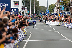 VIVIANI Elia from ITALY wins Men Elite Road Race 2019 UEC European Road Championships, Alkmaar, The Netherlands, 11 August 2019. <br /> <br /> Photo by Thomas van Bracht / PelotonPhotos.com <br /> <br /> All photos usage must carry mandatory copyright credit (Peloton Photos | Thomas van Bracht)