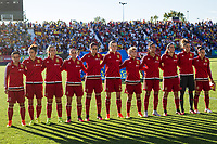 Spain's Sonia Bermudez Jennifer Hermoso Amanda Sampedro Irene Paredes Marta Corredera Leila Ouahabi Olga Garcia Marta Torrejon during the match of  European Women's Championship 2017 at Leganes, between Spain and Finland. September 20, 2016. (ALTERPHOTOS/Rodrigo Jimenez)