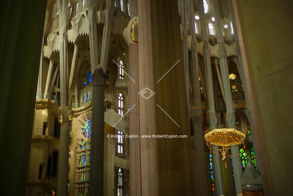 The Bas&iacute;lica i Temple Expiatori de la Sagrada Fam&iacute;lia, commonly known as the Sagrada Fam&iacute;lia, is a large Roman Catholic church in Barcelona, Catalonia, Spain, designed by Catalan architect Antoni Gaud&iacute;. <br /> <br /> (Photo by Robert Caplin)