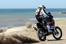 Slovenian Enduro Biker Miran Stanovnik competes during 34th rally Dakar - 2012 edition from Mar del Plata across Argentina, Chile and Peru towards Lima, on January 1, 2012. (Photo by MaindruPhoto)