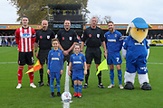 Mascot during the EFL Sky Bet League 1 match between AFC Wimbledon and Lincoln City at the Cherry Red Records Stadium, Kingston, England on 2 November 2019.