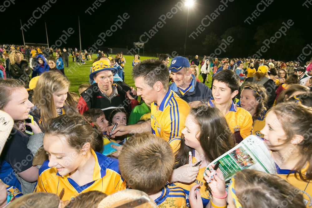 All Ireland Hurling Champions Clare V Clare in the annual GOAL challenge in Sixmilebridge.<br /> Pictured Credit Brian Gavin Press 22