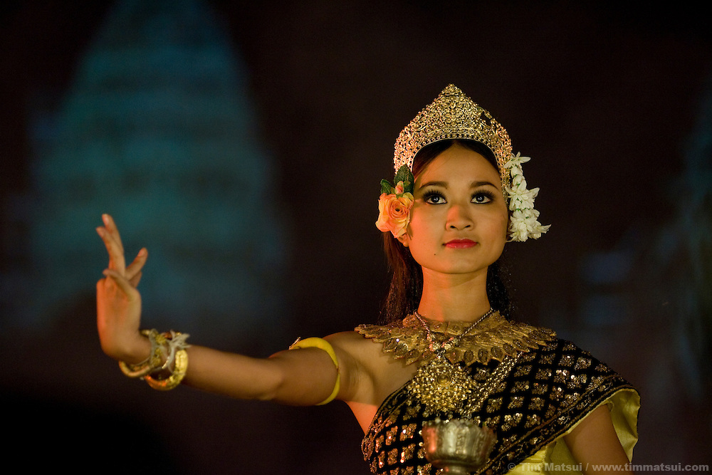 Apasara dancers perform a traditional Cambodian dance at the MTV Exit concert at Angkor Wat on Sunday, December 7, 2008. The first-ever rock concert at the UNESCO World Heritage site, a 12th century temple that is the prime tourist attraction in Cambodia and featured in the Angelina Jolie film Tomb Raider, is part of a series hosted by MTV Exit to create awareness about human trafficking for Cambodians.