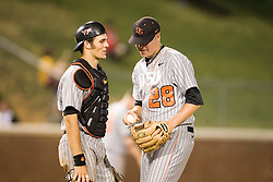 Oregon State Beavers P Daniel Turpen (28).  The defending National Champion Oregon State Beavers defeated the Rutgers Scarlet Knights 5-1 in their first game of the NCAA World Series Regional held at Davenport Field in Charlottesville, VA on June 1, 2007.
